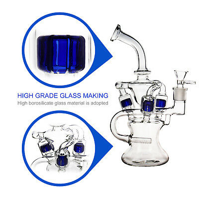 REANICE Bong glass water clear bubbler 14.5mm joint cheap pipe hight 25cm