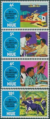 Niue 1972 SG170-173 South Pacific Commission set MLH