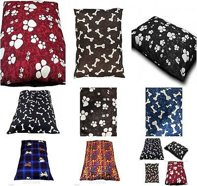 Dog Bed Pet Pillow Filled Zip Cover With Inner Cushion EXTRA XL JUMBO SIZE