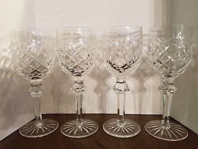 4 Waterford, powerscourt wine glasses