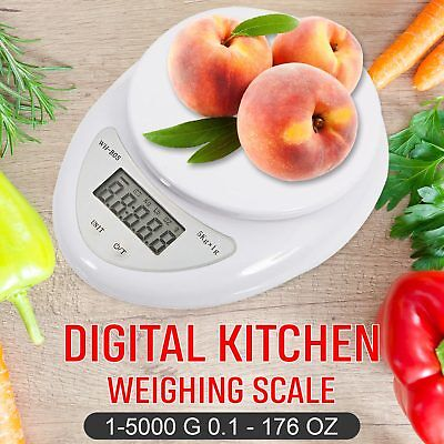 Digital Kitchen Scale 1-5000 g Diet Food Compact Kitchen Scale 0.1 – 176 oz US