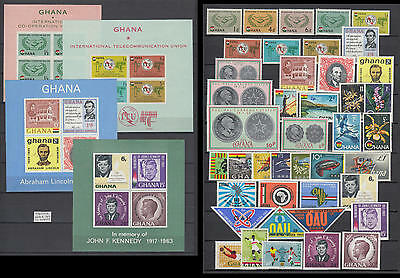 XG-AK968 GHANA - Year Set, 1965 Complete As For Scan, With Sheets MNH