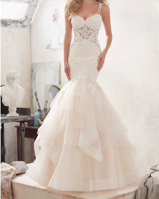 Beautiful Mori Lee Ivorychampagne Color Wedding Gown Model 8118