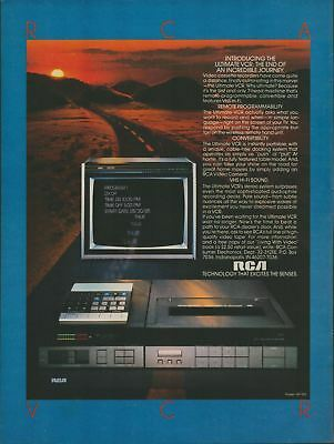 1984 Original Vintage Print Ad RCA Technology Introducing the 7 Head VCR