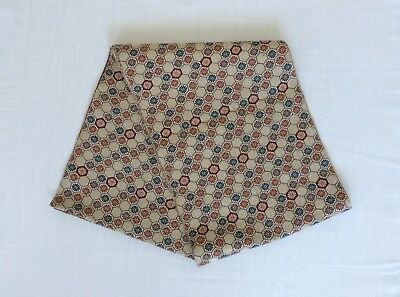Japanese obi for women, flowers, beige, used, Japan import, good cond. (I2081)