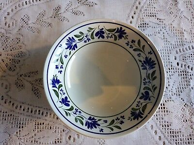 Churchill England Cereal Bowl Salzburg Abstract Floral- Smooth Rim Blue Green