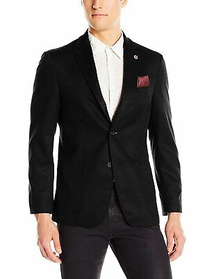 Ben Sherman Mens Two Button Slim Fit Cotton Glenplaid Sportcoat
