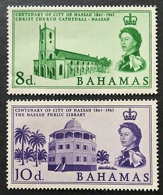 Bahamas 1962 SG221 SG222 Set of 2 Stamps 8d and 10d Mint