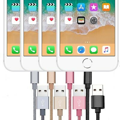 Long Braided Strong USB Quick Charger Data Sync Charging Cable Wire For iPhone
