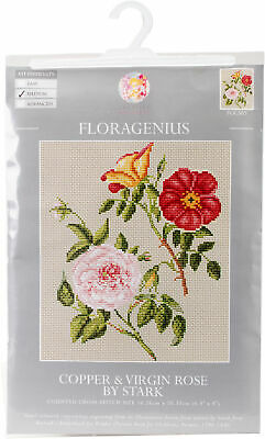 "CWOC/Floragenius Counted Cross Stitch Kit 6.5""X8""-Copper & Virgin Rose"