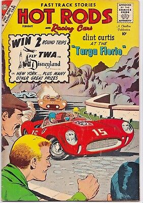 HOT RODS and RACING CARS # 44 CHARLTON - JACK KELLER - DICK GIORDANO cover art