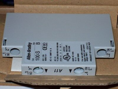 10-ALLEN BRADLEY 100 SA11 Side Mount 1 NO 1 NC Auxiliary Contact
