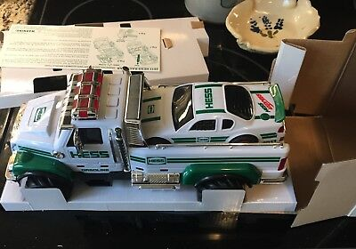 HESS 2011 Toy Truck and Race Car In Original Box PLUS the Original Bag it came