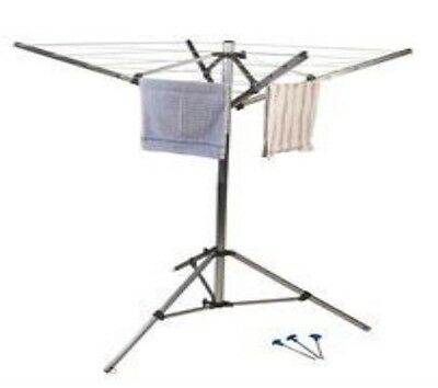 Rotary Portable Folding 4 Arm Washing Line Kampa FK0023 Caravan Camping Garden