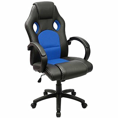 Gaming Chair Racing Computer Chair PU Leather Swivel Office Desk Seat PU Leat...