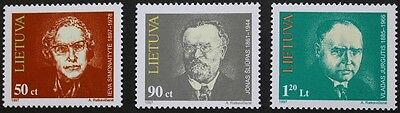 Anniversaries stamps, 1997, Lithuania, SG ref: 634-636, 3 stamp set, MNH
