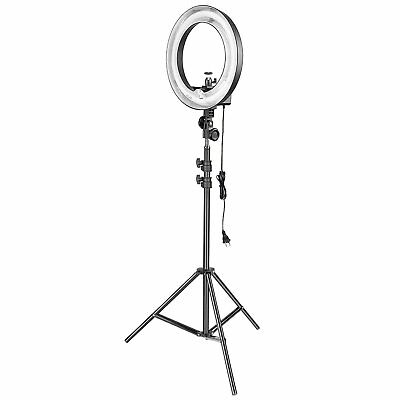 """Neewer Camera Photo Studio 18""""Outer 14""""Inner 600W 5500K Dimmable Ring Flash with"""