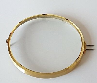 Brass Clock Bezel and Glass 113mm