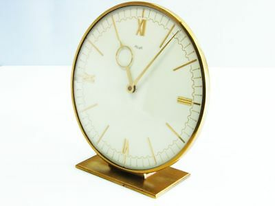 Rare Art Deco Bauhaus Brass Desk Clock  Kienzle Design Heinrich Moeller Germany