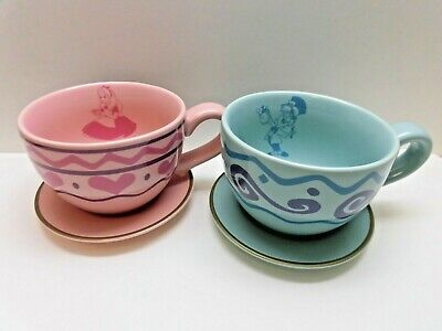 Tokyo Disney Alice in Wonderland Tea Mug Cup Pair Set  Alice & Mad Hatter Teacup