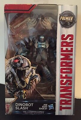 Transformers The Last Knight Dinobot SLASH Premier Edition Deluxe Raptor NIB