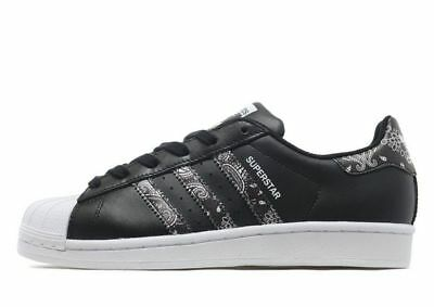 8df72f8a8dcc Adidas Originals Superstar Print- Girls Women s Trainer (Variable  Sizes)Black BN
