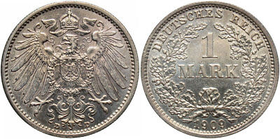 GERMANY: 1909-D 1 Mark #WC71357