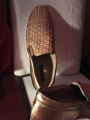 New Coriamenta  Gold Sneakers Shoes Made and bought in Venice,Italy Size 11