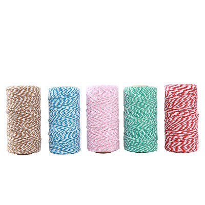 KE_ 100yard/Spoon Colorful Cotton Baker's Twine String Gift Packing Craft DIY