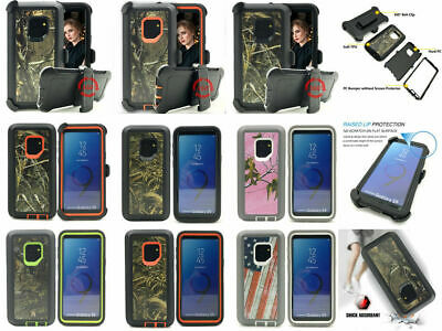 For SamsungGalaxy S9/9+,Defender Case Anti-Shock Camouflage Holster Fit Otterbox