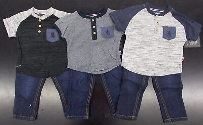 Infant/Toddler Boys English Laundry $39-$42 2pc Shirt & Jeans Sets Size 12m - 4T