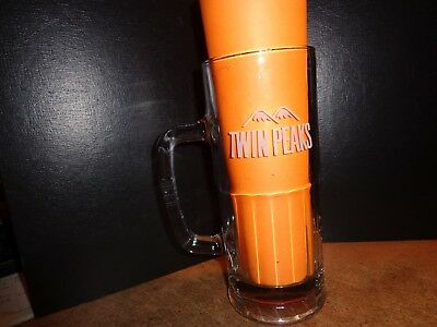 Twin Peaks Draft Beer Mug 29° Degrees. Gift or Man Cave. Heavy glass mug.