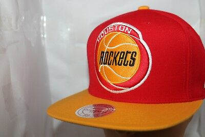 8e5bdd0ae HOUSTON ROCKETS MITCHEL   Ness NBA XL Logo 2-Tone Snapback