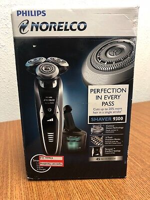 New Sealed Men's Philips Norelco Series 9000 S9300 Shaver w/ Cleaning Cartridge