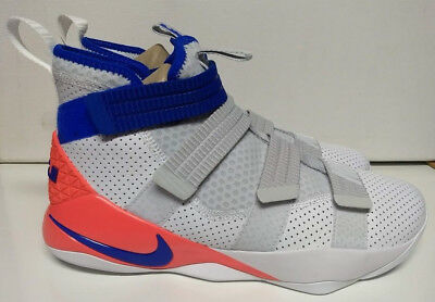 timeless design 7f7c5 26560 Nike Lebron Soldier XI 11 SFG Size 14 White Racer Blue Infrared Shoe 897646 -101