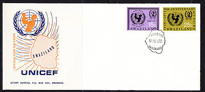 Swaziland 1972 U.N.I.C.E.F First Day Cover Unaddressed