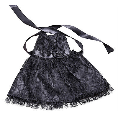1x Fashion Handmade Black Lace Dress Clothes for 18inch Doll Party Pro AU