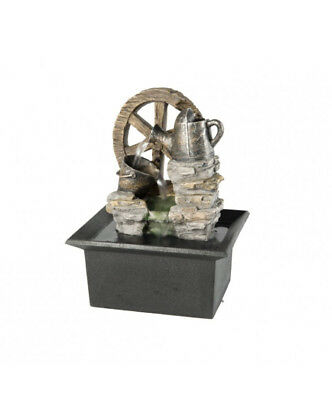 Wheel & Tin small indoor / Outdoor table top Water fountain water feature