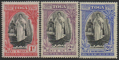 Tonga 1938 SG71-73 Queen Salote's Accession set MLH