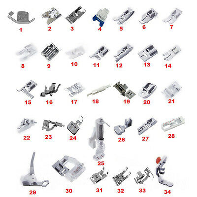 KE_ Sewing Machine Presser Foot Feet Kit Set For Janome Brother Singer Novelty