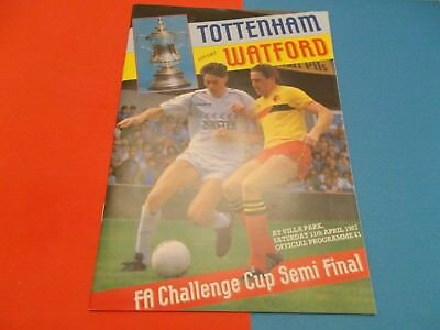 1987 Fac semi-final Tottenham v Watford at Villa Park