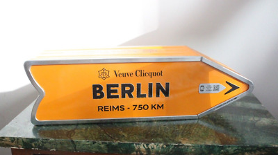 Veuve Clicquot Arrow Tin BERLIN Reims Champagne Journey Arrow Street Sign