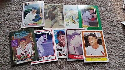 Old stan musial card  lot cardinals