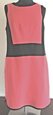 b72a3d23fc30 Vince Camuto Red Black Color Block Shift Sleeveless Career Ponte Dress Size  M