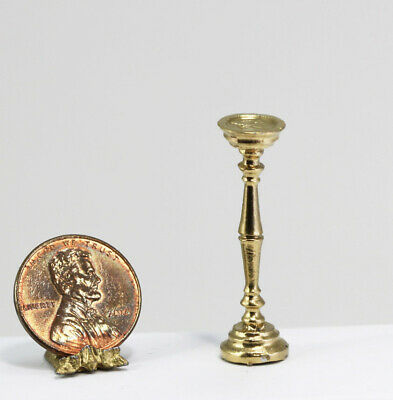 Dollhouse Miniature 1:12 Scale Gold Metal Stand or Pedestal