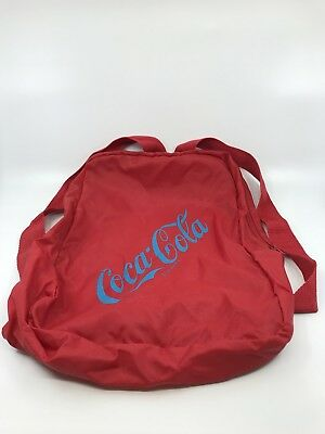 Vtg 70's/80 Coca Cola Red Advertising Backpack Bag Collectible Nylon Coke