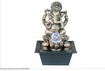 Vivid Ganesha small indoor / Outdoor table top Water fountain water feature