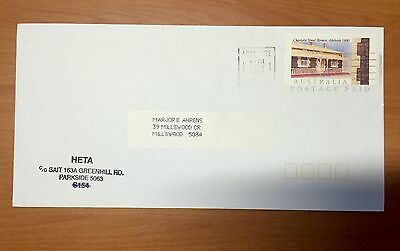 Australian Houses Charlotte Street Cottages Adelaide : Pre Paid Envelope - Used