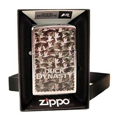 Zippo Outdoors 28880 Duck Dynasty Duck Camo Overlay on Street Chrome Lighter