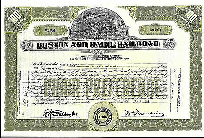 Historisches Wertpapier Boston and Main Railroad